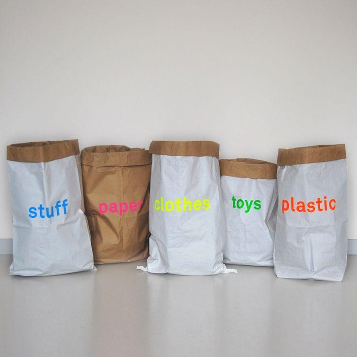 Image of set of 5 paper storage bags / 5er Set Papiersäcke