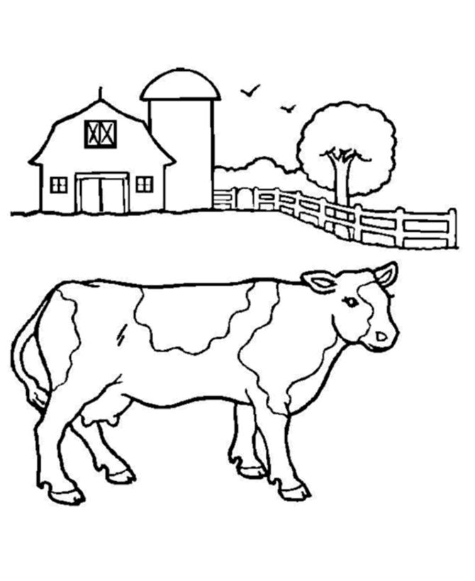cow coloring pages farm milk cow