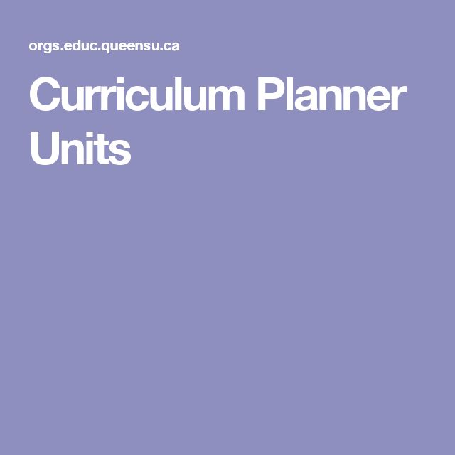 Curriculum Planner Units                                                                                                                                                     More