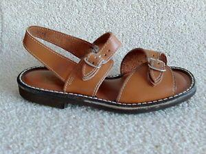 The-original-1970S-vintage-childrens-unisex-jesus-sandals-in-brown-leather-sz-1