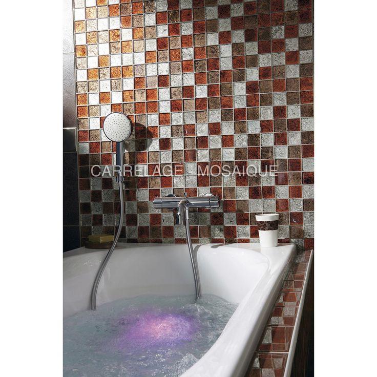 20 best Salle de bain   bathroom   mosaique images on Pinterest - carreaux de verre pour salle de bain