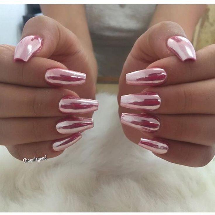 Chrome pink nails✨||To see more follow @Kiki&Slim