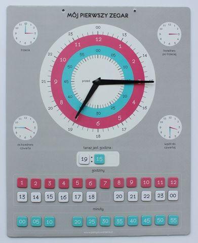 Zegar Edukacyjny wersja 2 - ZEGARY MAGNETYCZNE - Gry edukacyjne dla dzieci, wychowanie i obowiązki - Pomysłowa Mama