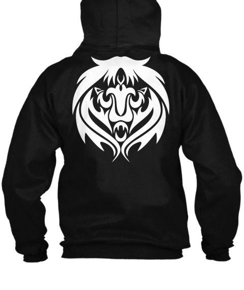 Lion Black Sweatshirt Back
