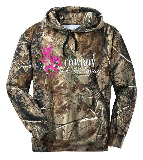 Cowboy Take Me Away Camo Hoodie Country Girl Deer Outdoor Hunt Ladies Women - 180 Best Hoodies & Sweaters :) Images On Pinterest Country Life