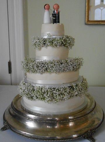 Gypsophila cake decoration