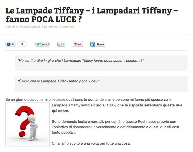 È vero che le Lampade Tiffany fanno poca luce? Anche tu hai questo dubbio?  Scopri in questo articolo se è vero o falso --> http://tiffanysicuro.it/blog/le-lampade-tiffany-i-lampadari-tiffany-fanno-poca-luce/