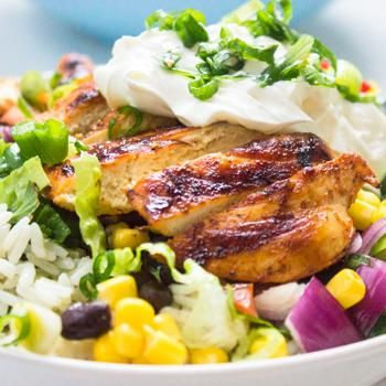 Chipotle's Chicken Burrito Bowl with Cilantro Lime Rice Recipe