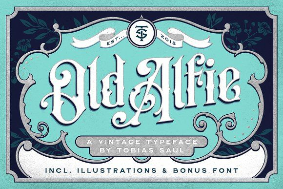 Old Alfie Font   Extras by Tobias Saul on @creativemarket