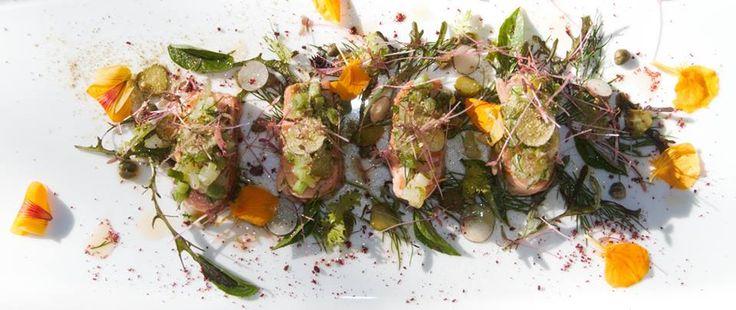 Warm Smoked Salmon with Fingerling Potato Salad