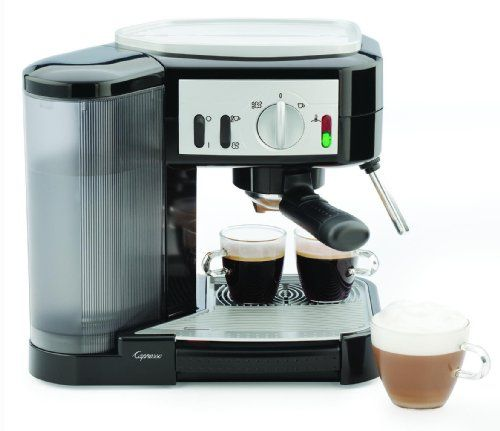 Capresso 1050-Watt Pump Espresso and Cappuccino Machine, Black/Silver - http://www.freeshippingcoffee.com/equipment/espresso-machines/capresso-1050-watt-pump-espresso-and-cappuccino-machine-blacksilver/ - #EspressoMachines