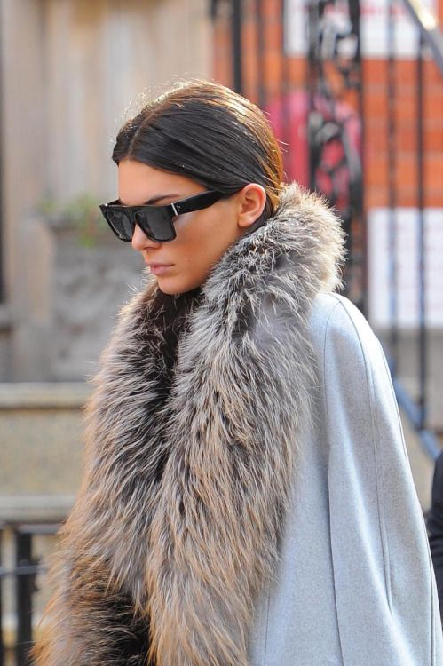Nothing less than perfect. kendall jenner in fur.