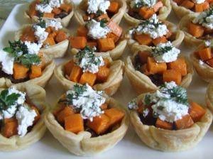 Caramelised Onion, Persian Feta & Roasted Kumara Tarts