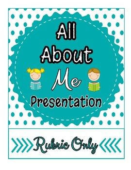 Please note that this resource is a rubric only version of my All About Me Project Bundle. This rubric includes a link on the last page to make an EDITABLE copy in Google Docs. The full bundle includes a student exemplar, NETS Standards, and overhead instructions.Link to the full project bundle in my shop: Click here for THE FULL BUNDLE THAT INCLUDES A STUDENT EXAMPLE Task: Students will create a Power Point or Google Docs Presentation to answer EACH of the questions within the rubric.