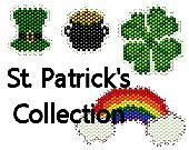 Brick Stitch Charm Patterns St. Patrick's Day Collection Earrings Rainbow Pot of Gold Green Shamrock Four Leaf Clover Seed Bead Patterns on Etsy, $6.00