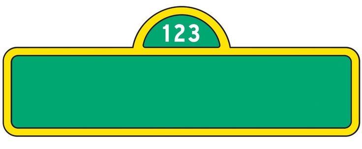 Sesame Street Sign Template | Category: Sesame Street - Piece of Cake Tin Hire Porirua, Wellington