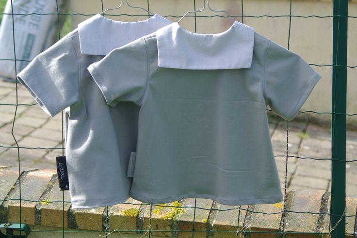 Coudre des chemises jumelles à col marin