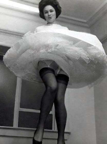 Petticoat naked from the waist up