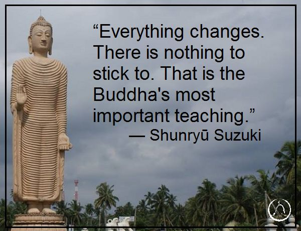 Another quotation by Suzuki.  This quotation is yet another demonstration of an important principle in Buddhism: that one must not expect, grasp, yearn, or want.  These emotions and desires lead a person off of the path to enlightenment.