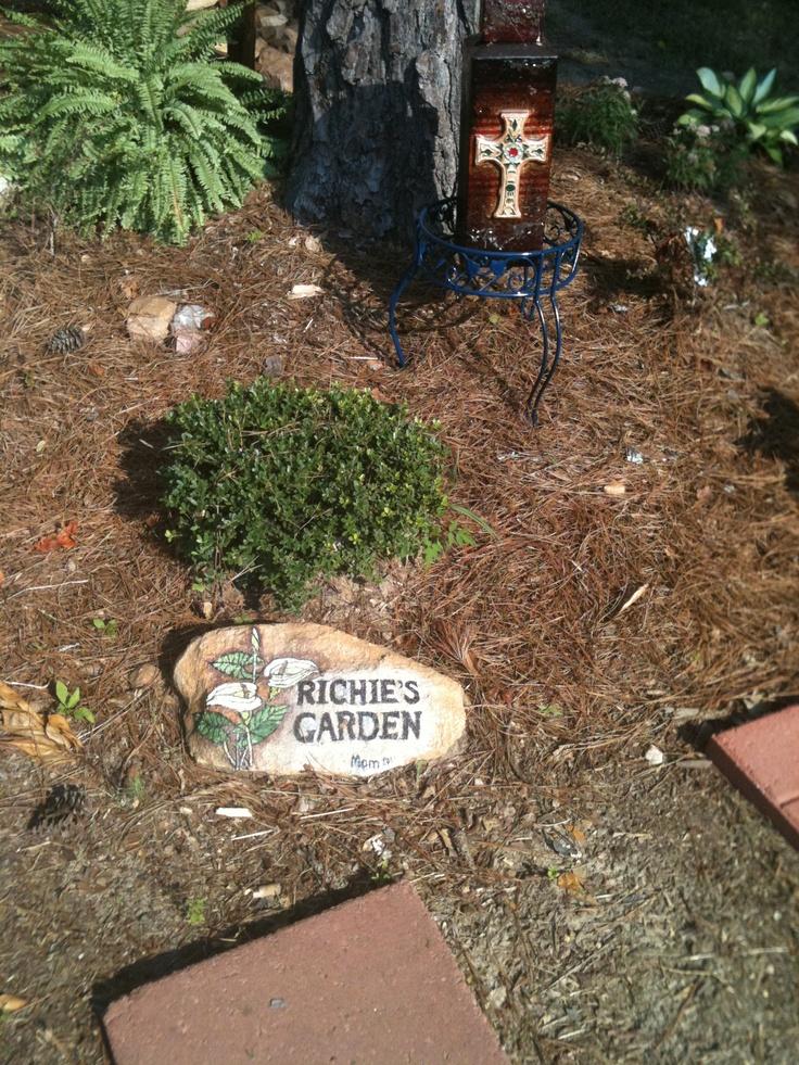 rock painting memorial garden