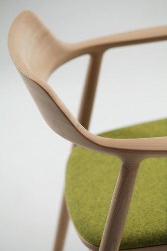 Naoto Fukasawa Hiroshima Lounge with green upholstery seat