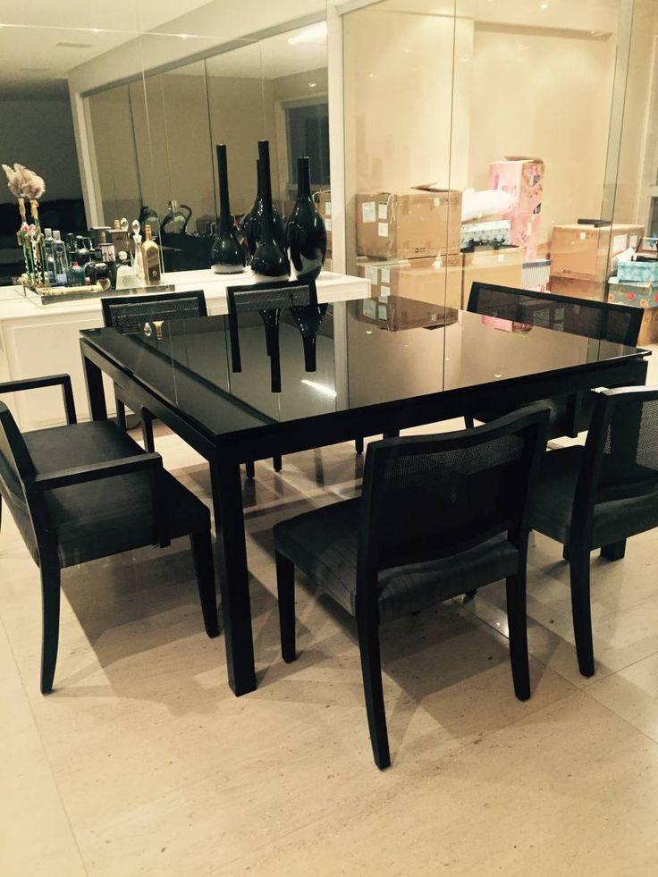 mesa de jantar quadrada - decoração prodomo