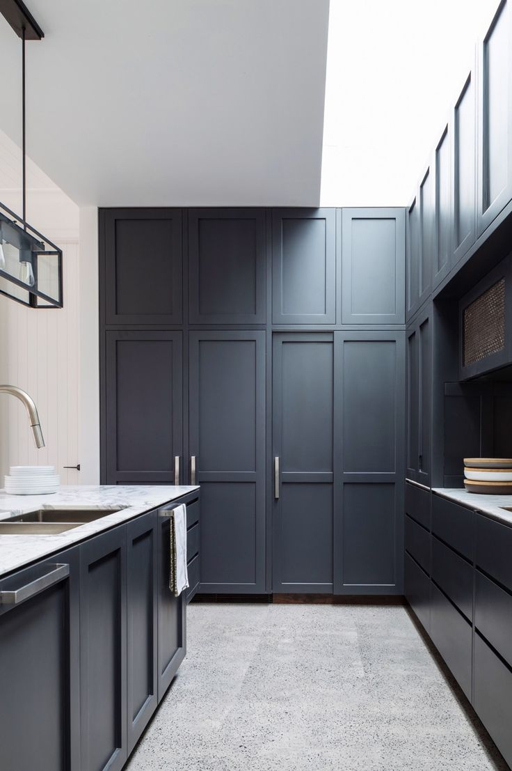 Love the dark blue and grey tones