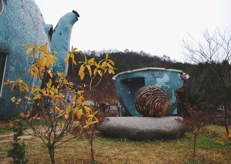 A Work of Art in the Middle of Nowhere: Enrogel Teapot Cafe - near Gwangju!