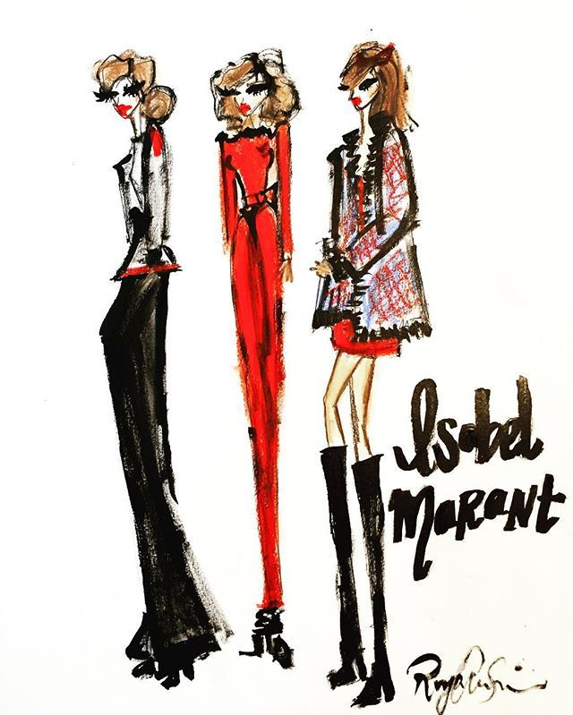 Loved illustrating this little editorial for @isabelmarant ! She's one of my favorite French designers!