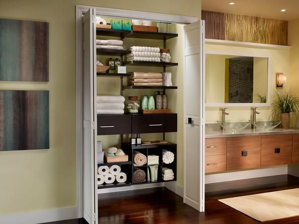This ShelfTrackR Elite System Can Be Customized To Add Versatility And Style Your Laundry Room Or Utility Closet