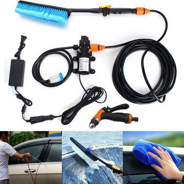75W High Pressure Self Priming Electric Car Portable Wash Washer Kit Water Pump