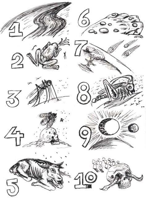 Les 10 plaies d'Egypte (divers visuels) - Levangelisation (section Enfants)