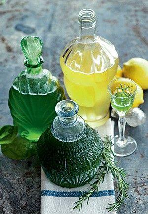 Licor de manjericão e limoncello