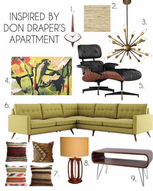 Mad Men: Don And Meganu0027s New Penthouse Apartment Inspiration Moodboard