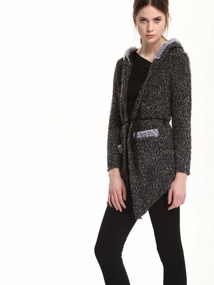 Top Secret Kabát dámský šedý s kapucí a páskem Dámský kabátek z kolekce TOP SECRET je vyroben z příjemného, lehkého přitom hřejivého materiálu. Má jednoduchý střih se zavazovacím páskem. Skvěle se hodí do jarního počasí …