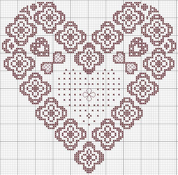 lace heart - coeur dentelle