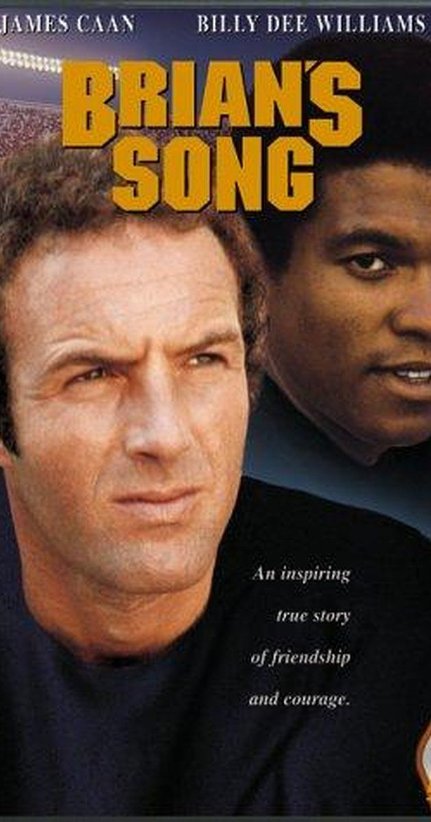 Directed by Buzz Kulik.  With James Caan, Billy Dee Williams, Jack Warden, Bernie Casey. Based on the real-life relationship between teammates Brian Piccolo and Gale Sayers and the bond established when Piccolo discovers that he is dying.