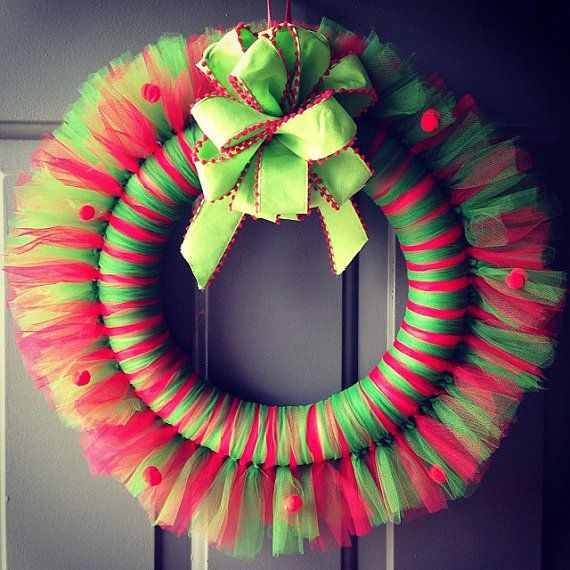 Christmas Tulle Wreath by MollyBugsCrafts on Etsy, $20.00