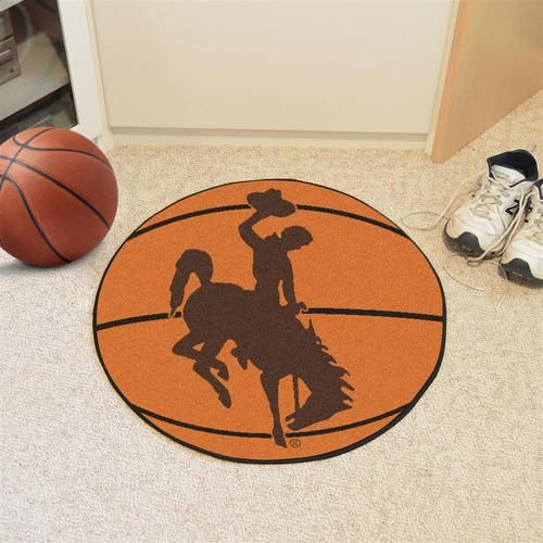 University of Wyoming Cowboys Basketball Floor Rug Mat
