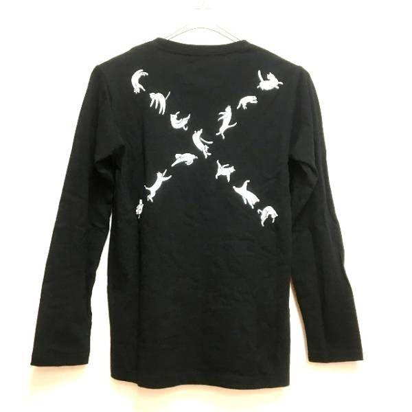 グラニフ Design Tshirts Store graniph ロングスリーブTシャツ カットソー 長袖 SS ブラック 黒 春秋 レディース_画像2