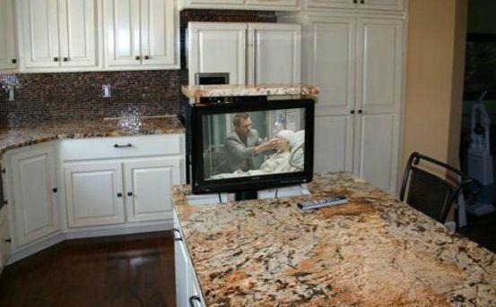 Small Kitchen Countertop Tvs Novocom Top