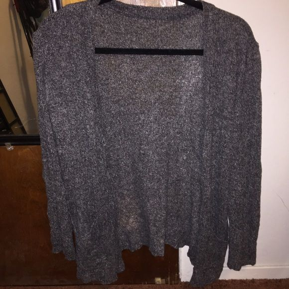 Brandy Melville Cardigan! Grey and white mesh button down cardigan. One of brandy Melville's older styles! No pockets in the front. Very soft almost velvet like material. Brandy Melville Sweaters Cardigans