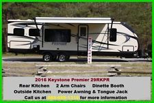 Get this 2016 Keystone Premier 29RKPR Pull Behind Camper Travel Trailer 1/2 Ton Towable for your cross country trip!