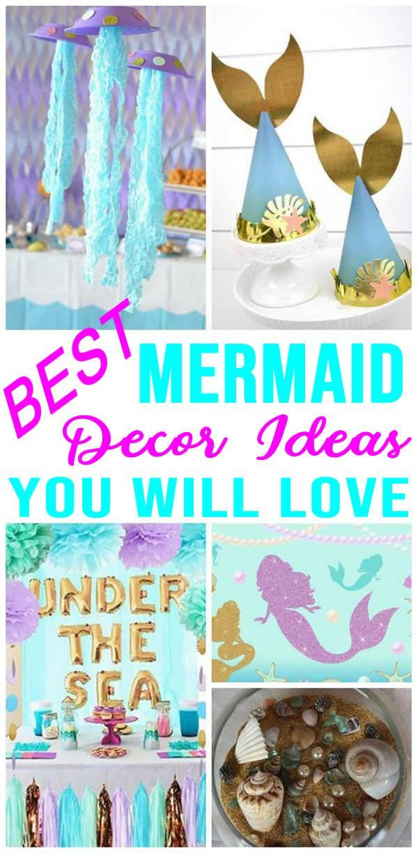 Best Mermaid Party Decorations Easy Diy Mermaid Party Decor Ideas