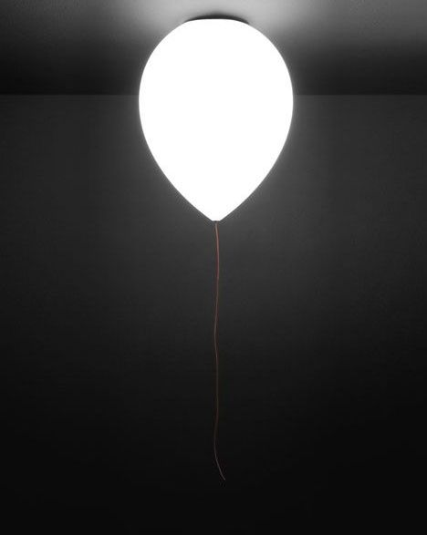 Its a balloon that hangs out and lights up the room