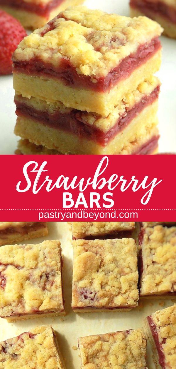 5 Zutaten Erdbeer-Streusel-Riegel – Sie können diese leckeren Erdbeer-Streusel machen …