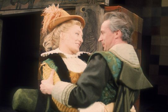 1968 production of Merry Wives of Windsor,  with Elizabeth Spriggs .