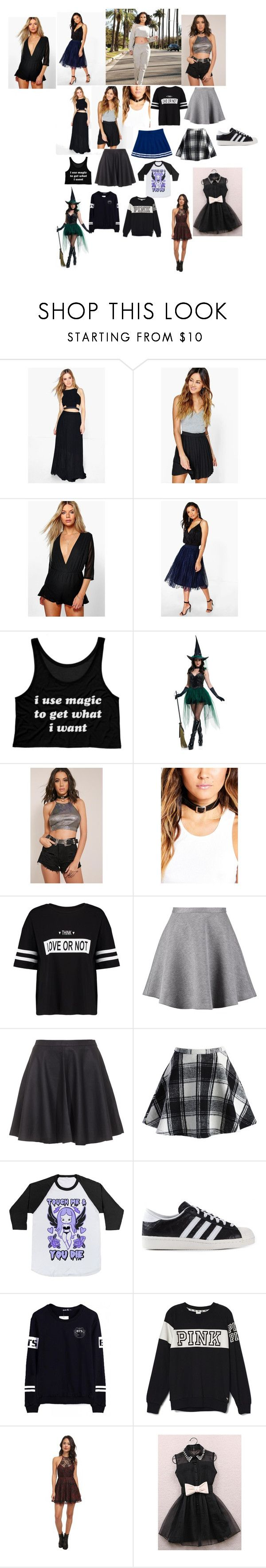 """""""my wardrobe 23"""" by nikoleta-nicky-malik ❤ liked on Polyvore featuring Boohoo, TWINTIP, Tiger of Sweden, Joie, Chicwish, adidas Originals, Victoria's Secret PINK and Free People"""