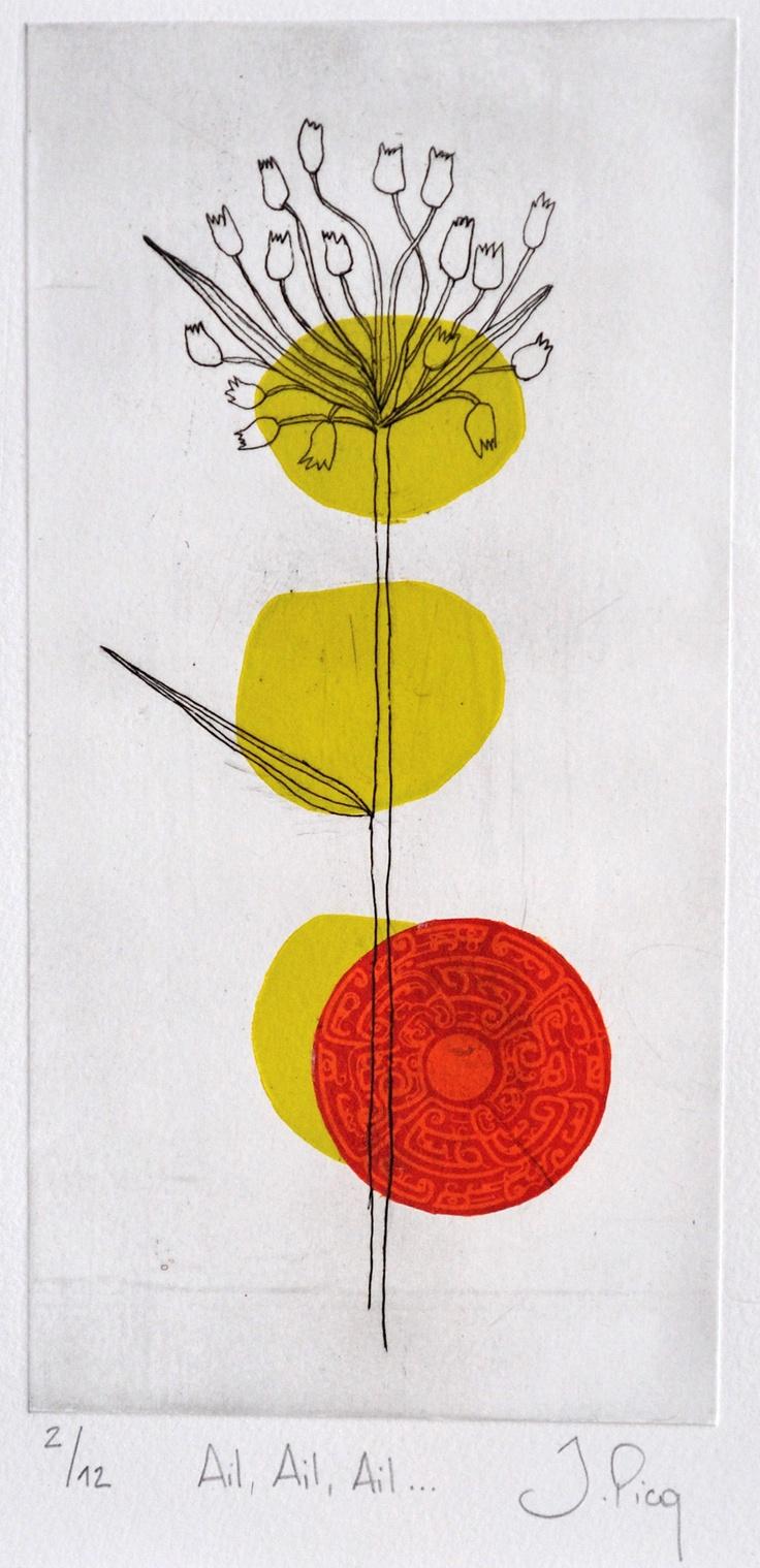 Gravures & Estampes | Jeanne Picq | Ailailail | Tirage d'art en série limitée sur L'oeil ouvert