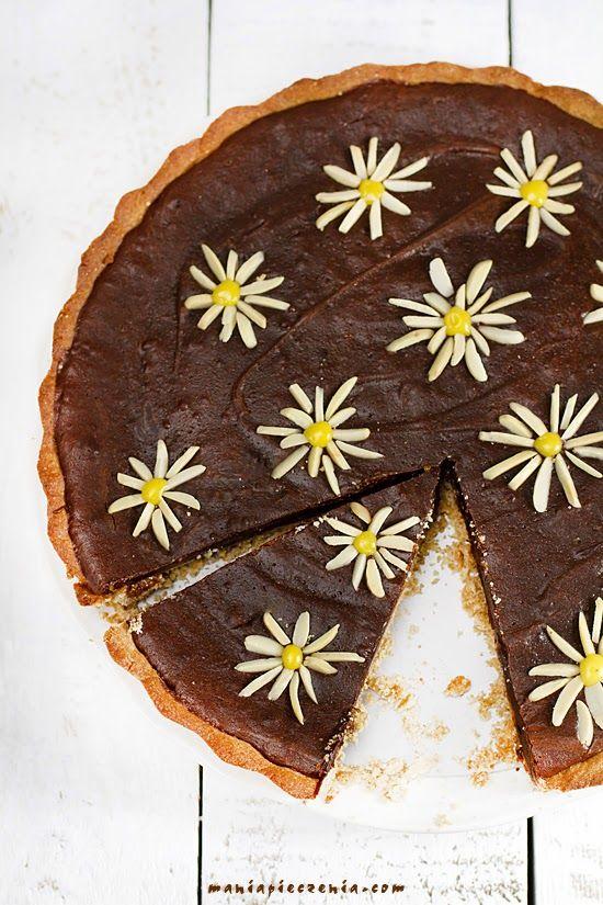 Mazurek z solonym karmelem i czekoladą / Salted Caramel & Chocolate Tart